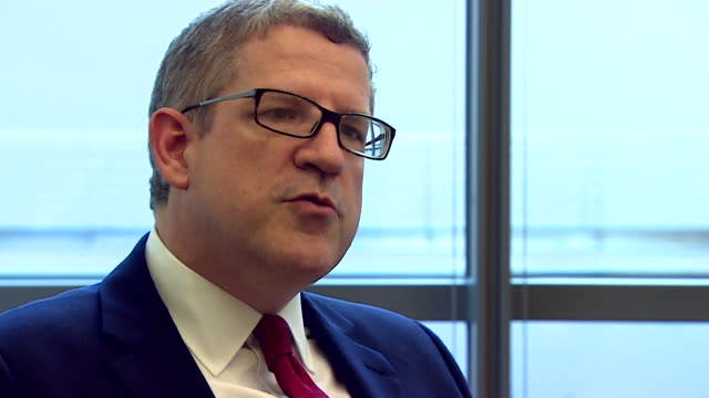 andrew parker, head of mi5 commenting on uk security issues post brexit saying 'we need to keep working together [with the eu]' in berlin, germany - cracker stock videos & royalty-free footage