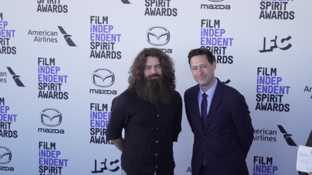 andrew patterson and craig w sanger at the 2020 film independent spirit awards on february 08 2020 in santa monica california - film independent spirit awards stock videos & royalty-free footage