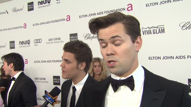 INTERVIEW Andrew Rannells at Elton John AIDS Foundation Presents 21st Annual Academy Awards Viewing Party Sponsored By Chopard Neuro Drinks And Wells...