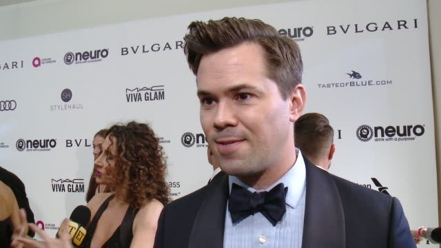 INTERVIEW Andrew Rannells on the event at 25th Annual Elton John AIDS Foundation's Academy Awards Viewing Party in Los Angeles CA