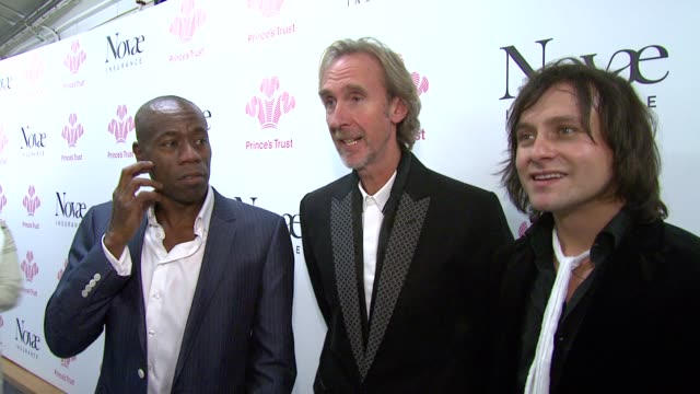 andrew roachford, mike rutherford and tim howar at the prince's trust rock gala 2010 backstage reactions at london england. - mike rutherford stock videos & royalty-free footage