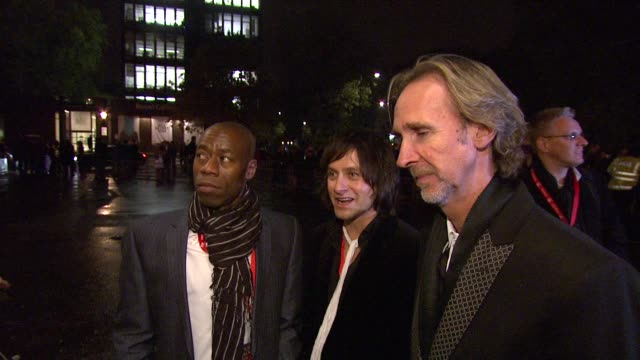 andrew roachford tim howar mike rutherford on their involvement with the prince's trust *guardian telegraph out* - mike rutherford stock videos & royalty-free footage