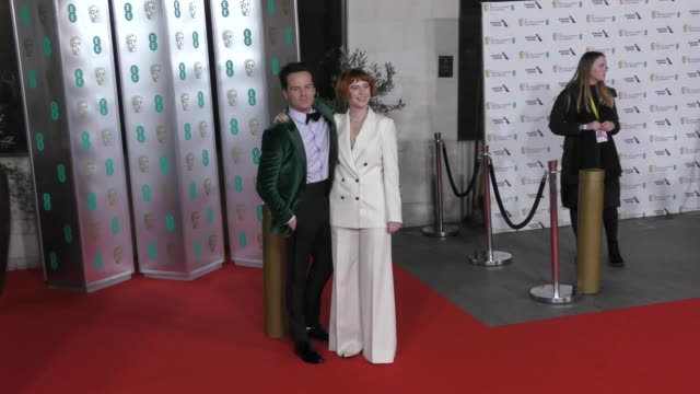 andrew scott and jessie buckley attend the ee british academy film awards 2020 after party at the grosvenor house hotel on february 02 2020 in london... - british academy film awards stock videos & royalty-free footage