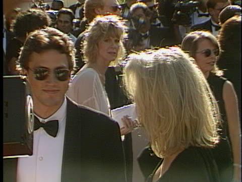 andrew shue at the emmy awards 1993 at pasadena civic. - andrew shue stock videos & royalty-free footage