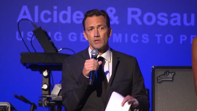 andrew shue on his wife being a cancer survivor and why she is in florida braving the storm instead of being here, on the importance of tonight's... - andrew shue stock videos & royalty-free footage