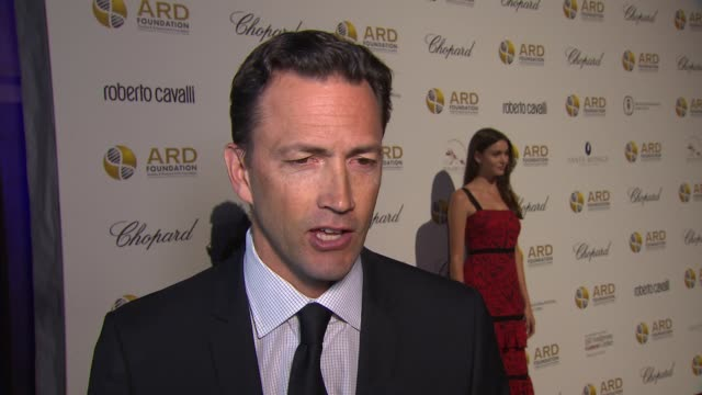 andrew shue shares why his wife who was supposed to host this event cannot be here due to the storm, on gene therapy at the alcides & rosaura... - andrew shue stock videos & royalty-free footage