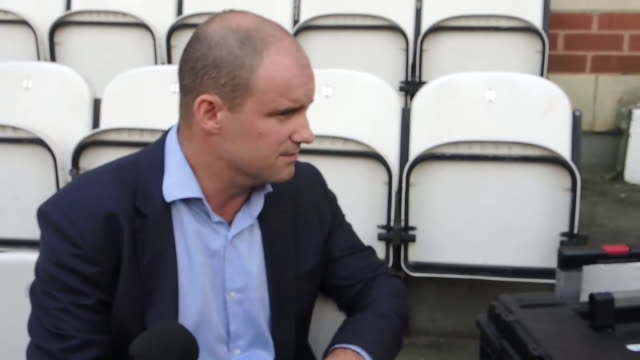 Andrew Strauss Director of Cricket for the England team gives a statement on the arrest of Ben Stokes in Bristol in September 2017 NNBZ127D ABSA627D
