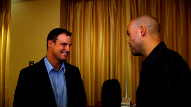 andrew strauss interview at book launch andrew strauss interview continues sot hasn't read books by the other cricketers yet / gentle ribbing about... - signierstunde stock-videos und b-roll-filmmaterial