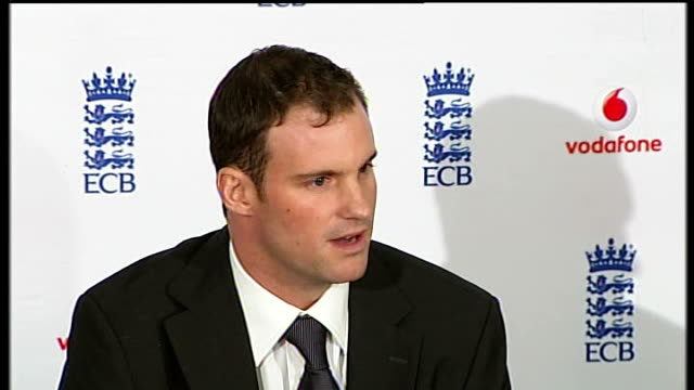 Andrew Strauss new England captain Andrew Strauss press conference SOT job is to manage strong characters in England team Dean Wilson interview SOT
