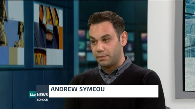 Andrew Symeou writes book about Greek extradition ordeal ENGLAND London GIR INT Andrew Symeou LIVE STUDIO interview SOT