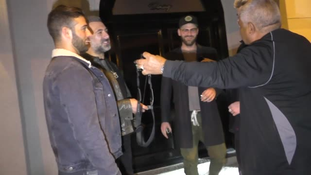 andrew taggart from the chainsmokers gets mistaken for liam payne outside craig's in west hollywood in celebrity sightings in los angeles - liam payne stock videos and b-roll footage