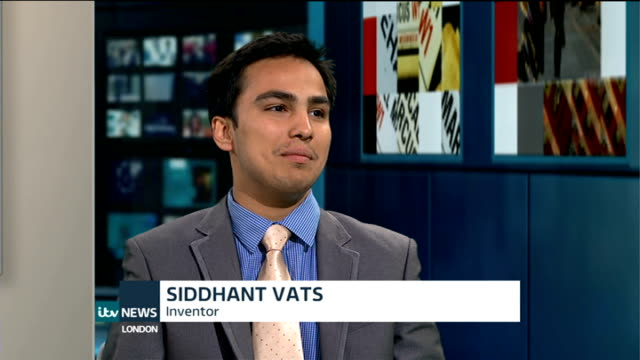 London GIR INT Siddhant Vats LIVE studio interview SOT Talks about his new Smart Watch invention Andrioidly Smart watch in use