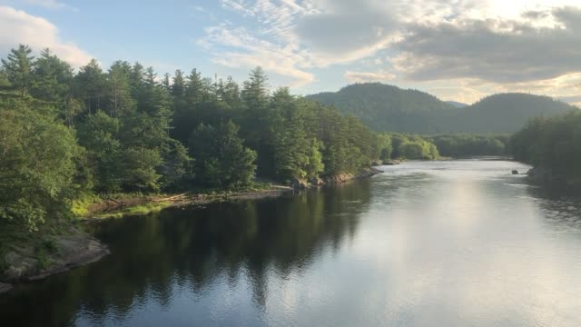 androscoggin river in gilead, maine usa - new england usa stock videos & royalty-free footage