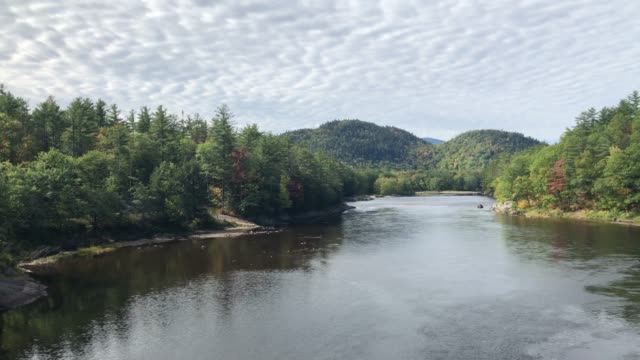 androscoggin river near bethel, maine usa during autumn - new england usa stock videos & royalty-free footage