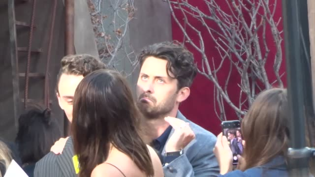 andy bean outside the it 2 premiere at bruin theatre in westwood in celebrity sightings in los angeles - bruin theater stock videos & royalty-free footage