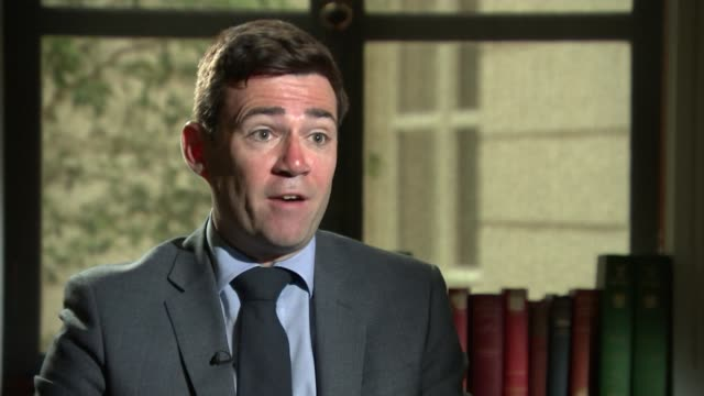andy burnham interview; england: london: westminster: int andy burnham interview sot. - re northern rail - greater london stock videos & royalty-free footage