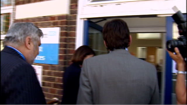 ext andy burnham mp along as visiting tamiflu collection point burnham washing hands with hand sanitizer burnham speaking to nhs employees swine flu... - hand sanitizer stock videos and b-roll footage