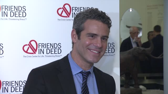 andy cohen at the a little jurassic treasure hunt - a 20th anniversary benefit celebrating 'friends in deed' at new york ny. - treasure hunt stock videos & royalty-free footage