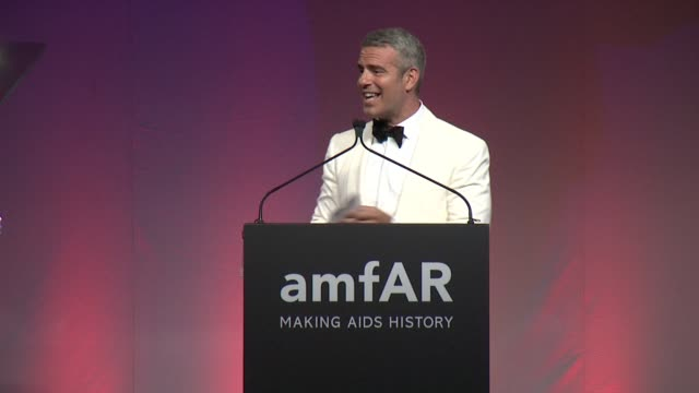 SPEECH Andy Cohen on Donald Trump and accepting his award at 2015 amfAR Inspiration Gala New York at Spring Studios on June 16 2015 in New York City