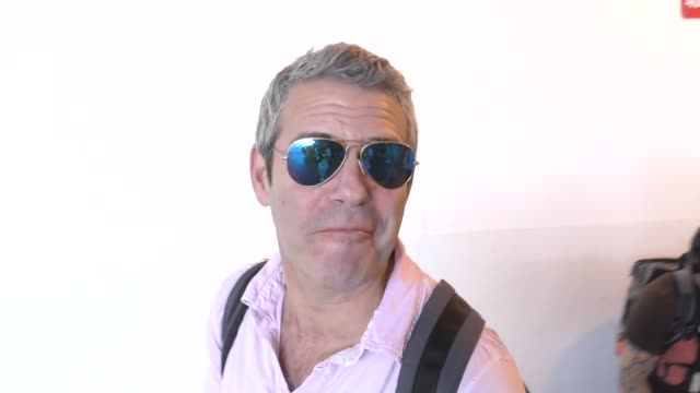 INTERVIEW Andy Cohen talks about Trump possible starting a war while arriving at LAX Airport in Los Angeles in Celebrity Sightings in Los Angeles