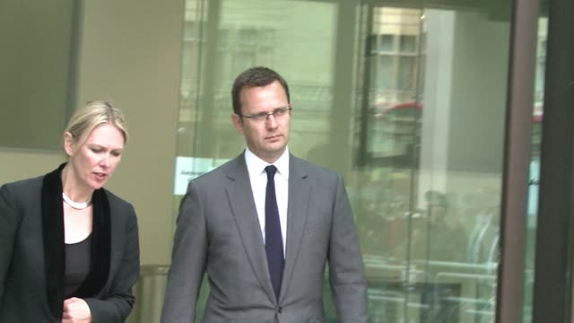 andy coulson the former media chief of british prime minister david cameron appeared in court on thursday charged with phone hacking while he was... - prime minister of the united kingdom stock videos & royalty-free footage