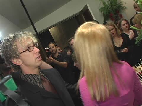vídeos de stock, filmes e b-roll de andy dick and kathy griffin at the kathy griffin hosts benefit for toys for tots at kathy griffins home in los angeles california - andy dick