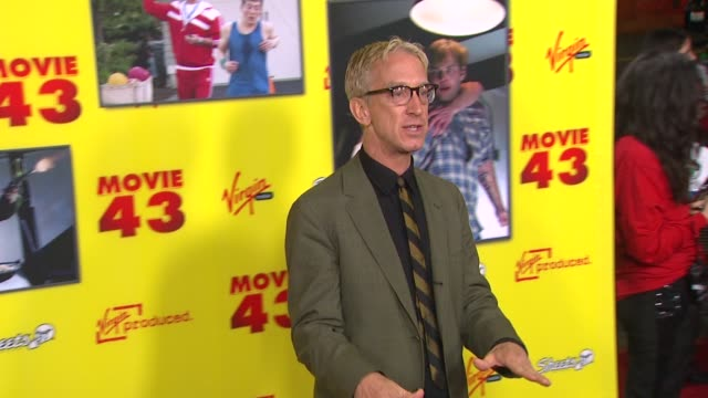 vídeos de stock, filmes e b-roll de andy dick at movie 43 los angeles premiere 1/23/2013 in hollywood ca - andy dick