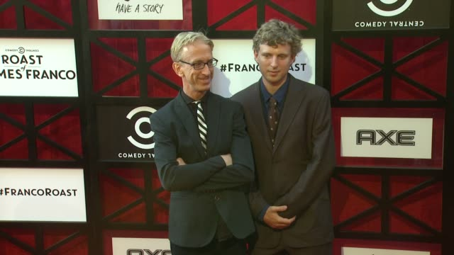 vídeos de stock, filmes e b-roll de andy dick lucas dick at comedy central roast of james franco on 8/25/2013 in culver city ca - andy dick