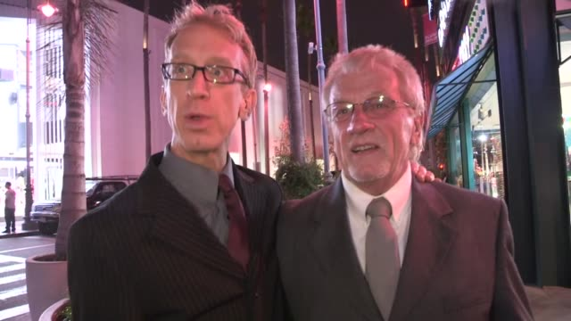 vídeos de stock, filmes e b-roll de andy dick with biological father ronnie morgan in los angeles 04/22/13 - andy dick