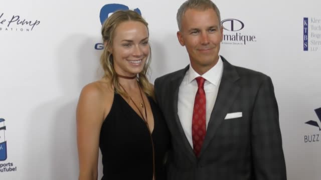 Andy Enfield and Amanda Enflield at The 17th Annual Harold and Carole Pump Foundation Gala at The Beverly Hilton Hotel on August 11 2017 in Beverly...