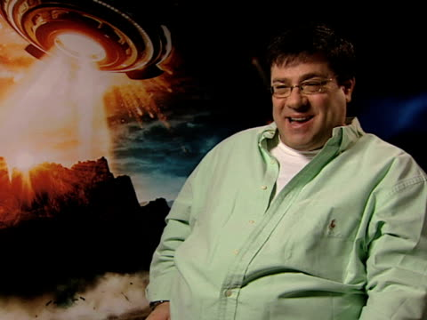 andy fickman on his belief in aliens considering he comes from roswell at the race to witch mountain interviews at london . - roswell stock videos & royalty-free footage