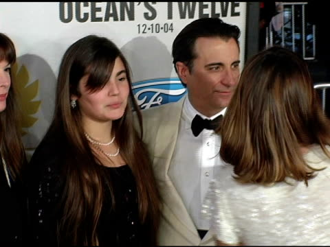Andy Garcia and family at the 'Ocean's Twelve' Los Angeles Premiere Arrivals at Grauman's Chinese Theatre in Hollywood California on December 8 2004