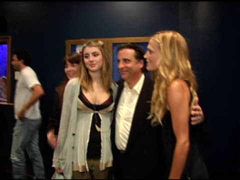 Andy Garcia and family with Molly Sims at the 3rd Annual 'Night With the Friends of El Faro' Benefit Hosted By Molly Sims on May 13 2005