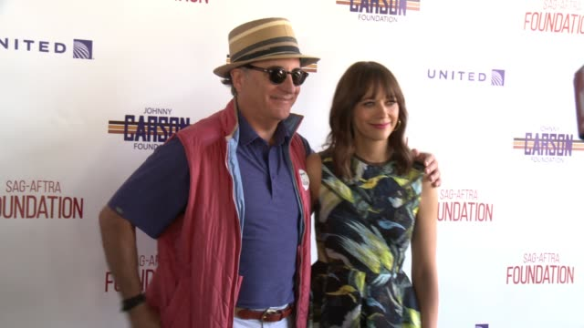Andy Garcia and Rashida Jones at the SAGAFTRA FoundationActors Inspiration Award To Rashida Jones8th Annual Los Angeles Golf Classic at Lakeside Golf...