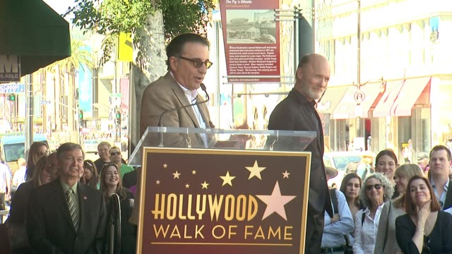 SPEECH Andy Garcia at Ed Harris Honored With Star on the Hollywood Walk of Fame in Hollywood CA on