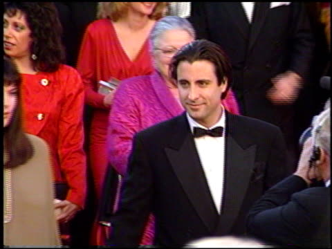 stockvideo's en b-roll-footage met andy garcia at the 1991 academy awards at the shrine auditorium in los angeles california on march 25 1991 - 1991