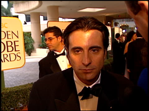 Andy Garcia at the 1998 Golden Globe Awards at the Beverly Hilton in Beverly Hills California on January 18 1998