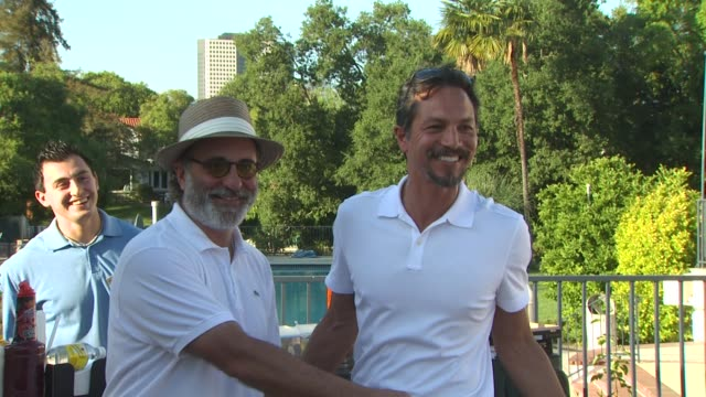 andy garcia benjamin bratt at the third annual george lopez celebrity golf classic 2010 audi quattro cup at toluca lake ca - benjamin bratt stock videos & royalty-free footage