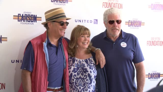 Andy Garcia Cyd Wilson and Ron Perlman at the SAGAFTRA FoundationActors Inspiration Award To Rashida Jones8th Annual Los Angeles Golf Classic at...