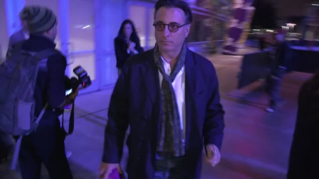 Andy Garcia departs the Laker Game at Staples Center in Los Angeles 11/16/12