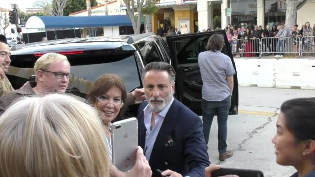 andy garcia greets fans outside the book club premiere at regency village theatre in westwood in celebrity sightings in los angeles - book club stock videos & royalty-free footage