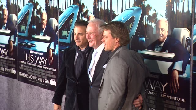 Andy Garcia Jerry Weintraub and Matt Damon at the 'His Way' Premiere at Los Angeles CA