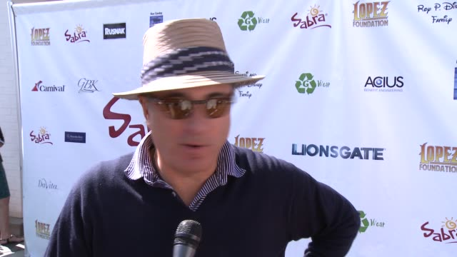 INTERVIEW Andy Garcia on being a part of the afternoon at The 7th Annual George Lopez Celebrity Golf Classic Presented By Sabra Salsa at Lakeside...