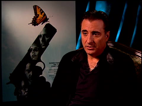 Andy Garcia on his character in the film at the 'The Air I Breathe' press junket at the Four Seasons Hotel in Los Angeles California on January 15...