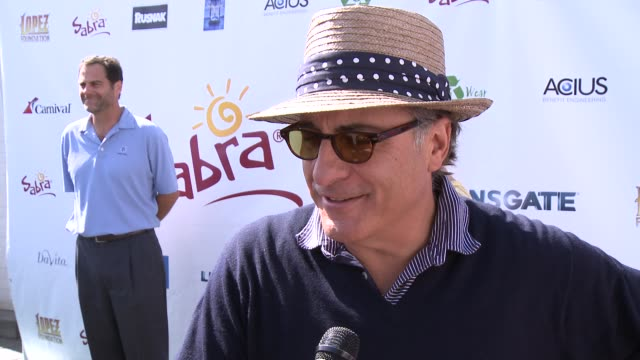INTERVIEW Andy Garcia on his favorite person to play golf with at The 7th Annual George Lopez Celebrity Golf Classic Presented By Sabra Salsa at...