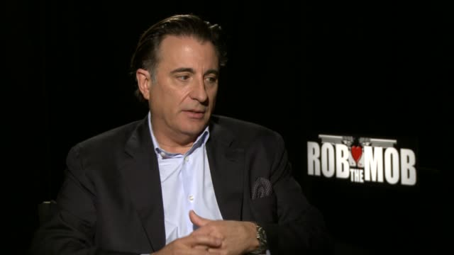 INTERVIEW Andy Garcia on how he developed his character why it was important to avoid mob cliches at the 'Rob The Mob' Los Angeles Press Junket...