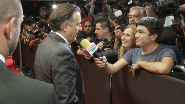 Andy Garcia on the red carpet Sophia Loren's 80th Birthday Celebration on September 20 2014 in Mexico City Mexico