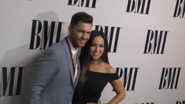Andy Grammer Aijia Lise at the 64th Annual BMI Pop Awards at the Beverly Wilshire Four Seasons Hotel in Beverly Hills in Celebrity Sightings in Los...