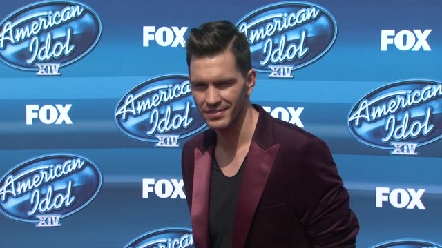 andy grammer at the american idol xiv grand finale arrivals at dolby theatre on may 13 2015 in hollywood california - american idol stock videos and b-roll footage