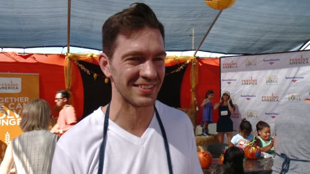 INTERVIEW Andy Grammer on what it means to volunteer at the Feeding America And The Los Angeles Regional Food Bank Host Holiday Harvest Volunteer...